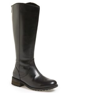 UGG Black Seldon Water Resistant Leather Tall Boot